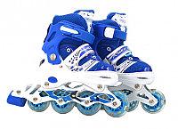 Роликовые коньки Power Superb, светящиеся колесо, синий, размер 35-38 , фото 1