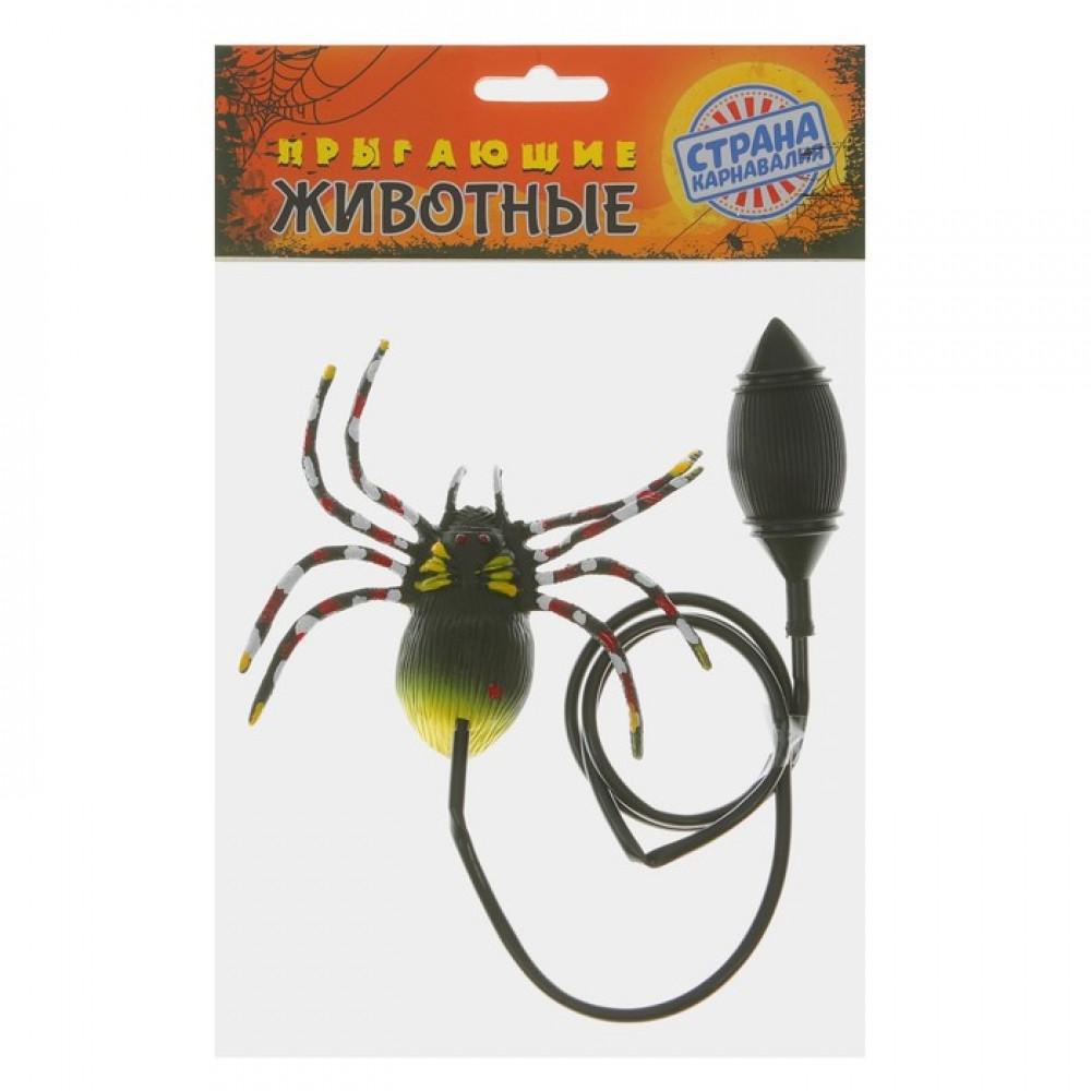 Прикол. Прыгающий паук, цветные ножки