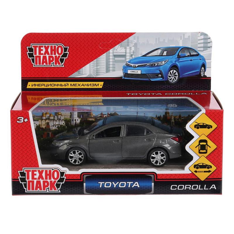 Технопарк Металлическая инерционная модель Toyota Corolla, серый