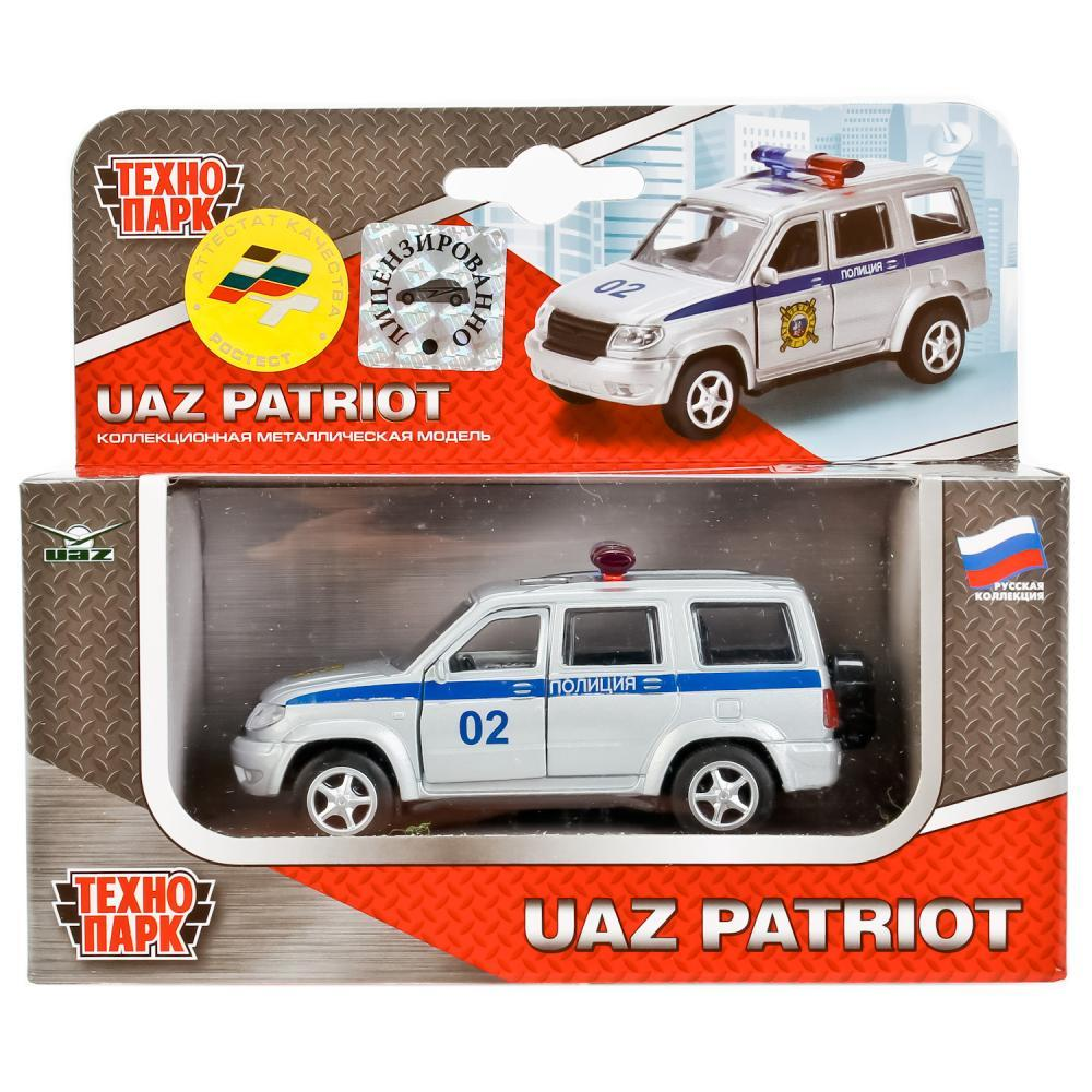 """Технопарк Металлическая инерционная модель UAZ Patriot """"Полиция"""""""