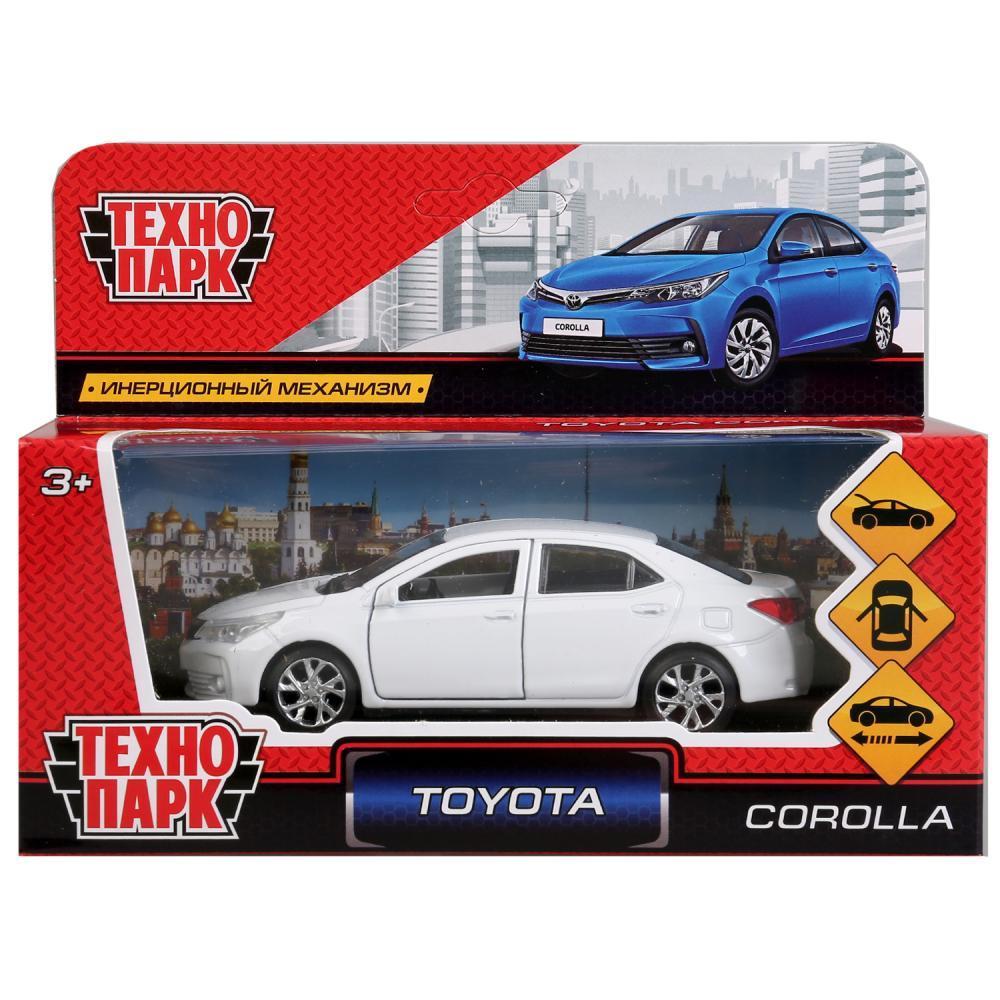 Технопарк Металлическая инерционная модель Toyota Corolla, белая