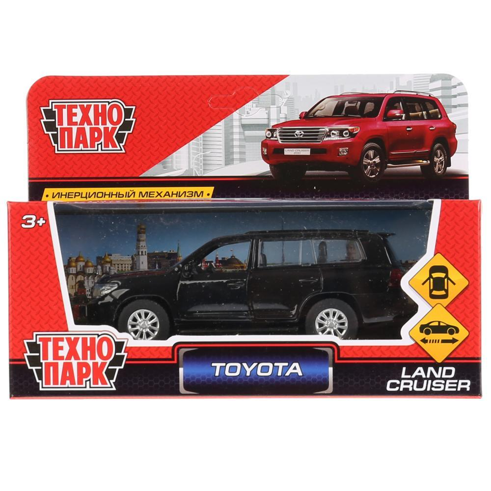 Технопарк Металлическая инерционная модель Toyota Land Cruiser, черный