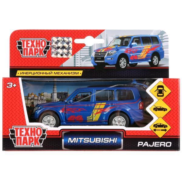 Технопарк Металлическая инерционная модель Mitsubishi Pajero