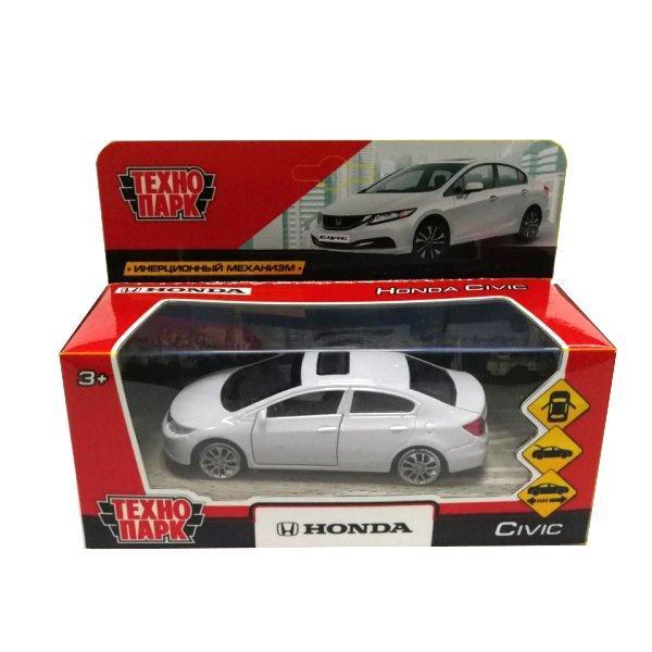 Технопарк Металлическая инерционная модель Honda Civic, белый