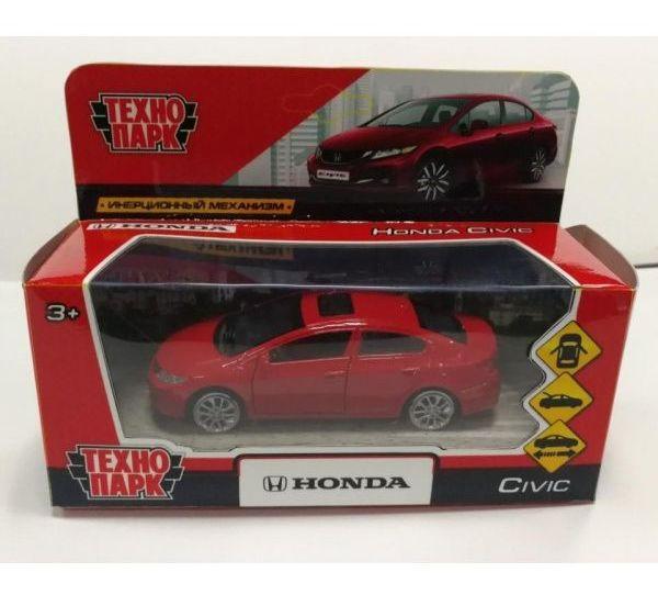 Технопарк Металлическая инерционная модель Honda Civic, красный