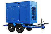 Дизельный генератор Prometey M 30 кВт. 3 фазный. Шумозащитный кожух на прицепе