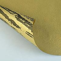 """Фактурная Бумага """"Галактика"""" двусторонняя, золотая на коричневом 50 см*1 м (2587046)"""