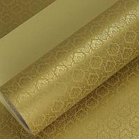 """Бумага двухсторонняя  """"Королевская лилия"""" золотой ,053 х 1 м (3575788), фото 1"""