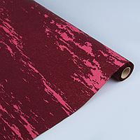 "Фактурная Бумага ""Галактика"" двусторонняя , розовая на бордовом, 0,5*1м (3575830), фото 1"