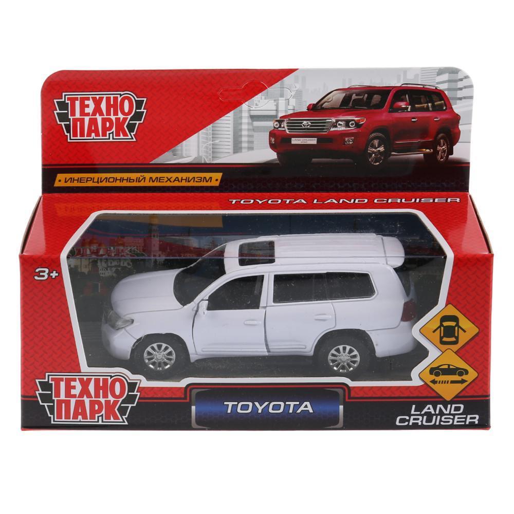 Технопарк Металлическая инерционная модель Toyota Land Cruiser, белый