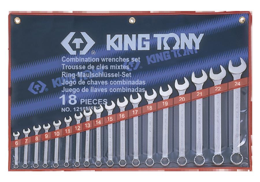 Набор рожково-накидных ключей KING TONY 1218MR01 (18 предметов)