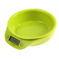 Весы кухонные LuazON LVKB-501, электронные, до 5 кг, чаша 1.3 л, зелёные