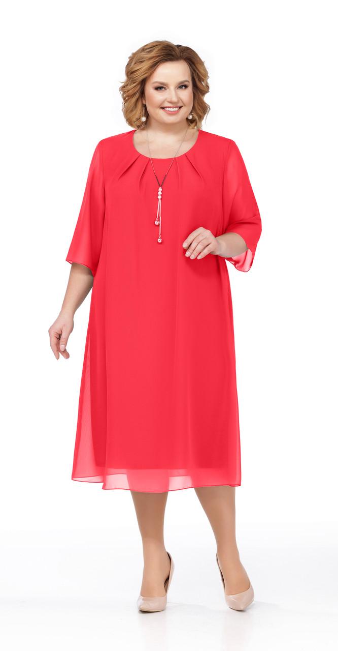 Платье Pretty-1003, красный, 56