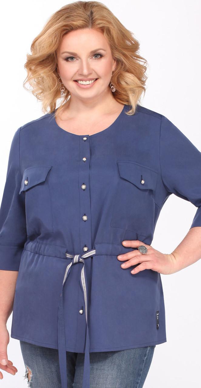 Блузка Matini-41100, синий, 52