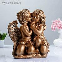 "Фигура ""Ангел и Фея сидя"" большой бронза 23х36х40см"