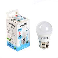 Лампа cветодиодная Smartbuy, G45, Е27, 5 Вт, 4000 К, дневной белый свет