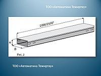 Короб глухой металлический  200х100х2000мм УТ2,5 оц