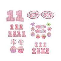 Набор для декорирования праздника 'День рождения', для девочки, 30 предметов