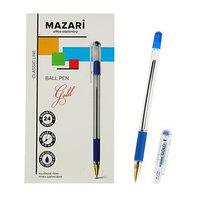 Ручка шариковая GOLD, пишущий узел 0.5 мм, чернила синие, с резиновым упором (комплект из 24 шт.)