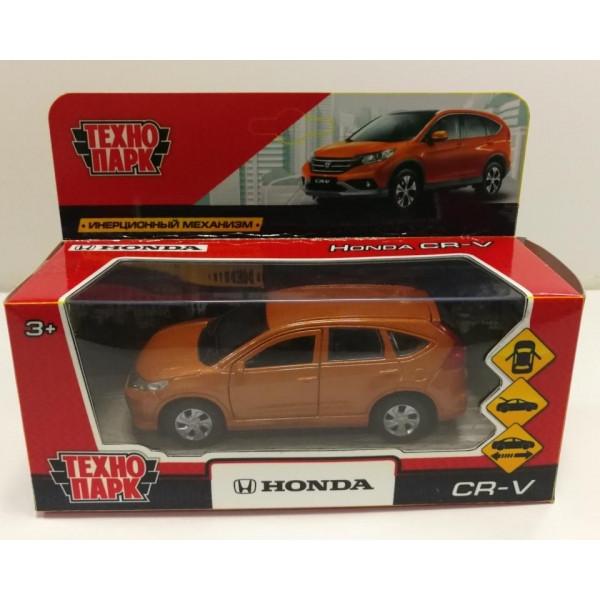 Технопарк Металлическая инерционная модель Honda CR-V, золотой