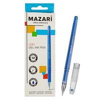 Ручка гелевая Lexy, узел 0.5 мм, синяя, игольчатый пишущий узел в форме кристалла (комплект из 12 шт.)