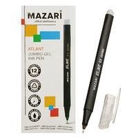 Ручка гелевая Jumbo ATLANT, игольчатый пишущий узел 0.5 мм, чернила чёрные, с увеличенным запасом чернил,