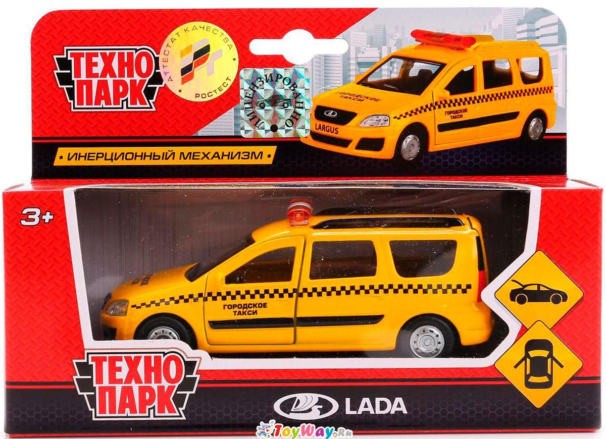 """Технопарк Металлическая инерционная модель Lada Largus """"Такси"""""""