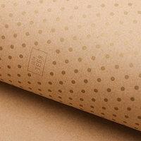 Бумага крафт с золотым цветом 'Золотой горошек', 50 х 70 см (комплект из 20 шт.)