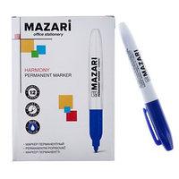 Маркер перманентный 2.0 мм Harmony М-5001, синий (комплект из 12 шт.)