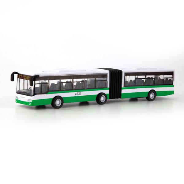 Технопарк Металлическая инерционная модель Автобус с гармошкой