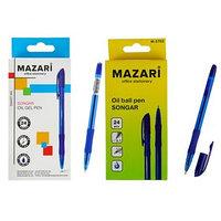 Ручка шариковая Songar Smart ink, игольчатый пишущий узел 0.7 мм, синие чернила, резиновый упор (комплект из