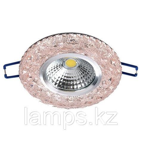 Спот встраиваемый светодиодный LED XN-0210 Pink , фото 2
