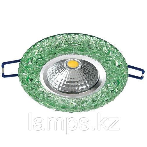 Спот встраиваемый светодиодный LED XN-0210 Green