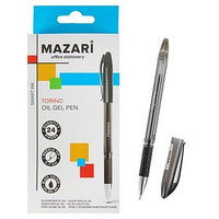 Ручка шариковая Torino, игольчатый пишущий узел 0.7 мм, чернила чёрные на масляной основе (комплект из 24 шт.)