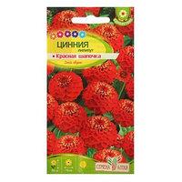 Семена цветов Цинния лилипут 'Красная Шапочка', О, 0,3 г. (комплект из 10 шт.)