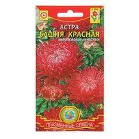Семена цветов Астра 'Башня' красная, О, 0,3 г (комплект из 10 шт.)