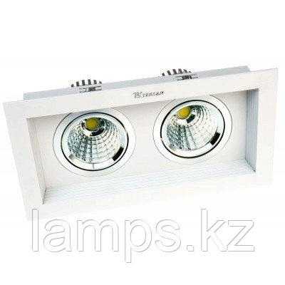 Светильник направленного света, светодиодный, потолочный LED RS-2112C-2 2х10W WHITE 6000K