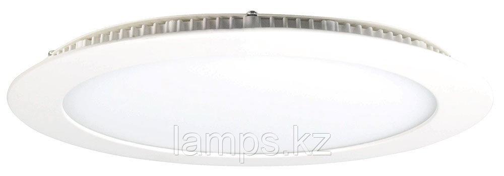 Панель светодиодная, круглая, белая, встраиваемая, потолочная DL LED ROUND PANEL 18W 3000K
