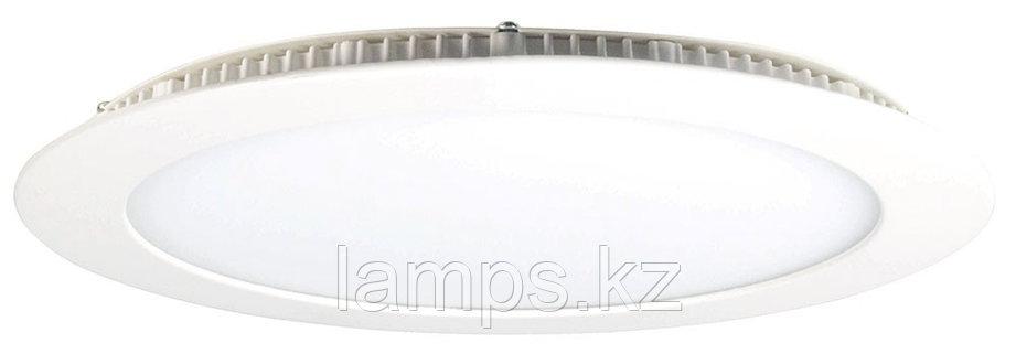 Панель светодиодная, круглая, белая, встраиваемая, потолочная DL LED ROUND PANEL 18W 3000K, фото 2