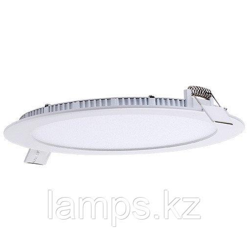 Панель светодиодная, круглая, белая, встраиваемая, потолочная DL LED ROUND PANEL 18W 6000K