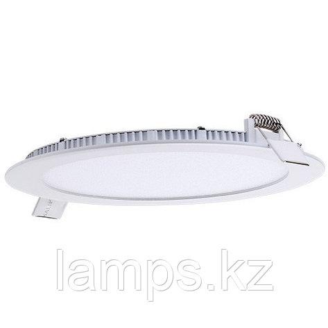 Панель светодиодная, круглая, белая, встраиваемая, потолочная DL LED ROUND PANEL 18W 6000K, фото 2