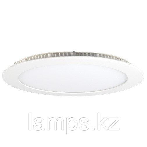 Панель светодиодная, круглая, белая, встраиваемая, потолочная DL LED ROUND PANEL 24W 3000K