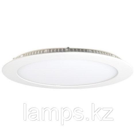 Панель светодиодная, круглая, белая, встраиваемая, потолочная DL LED ROUND PANEL 24W 3000K, фото 2