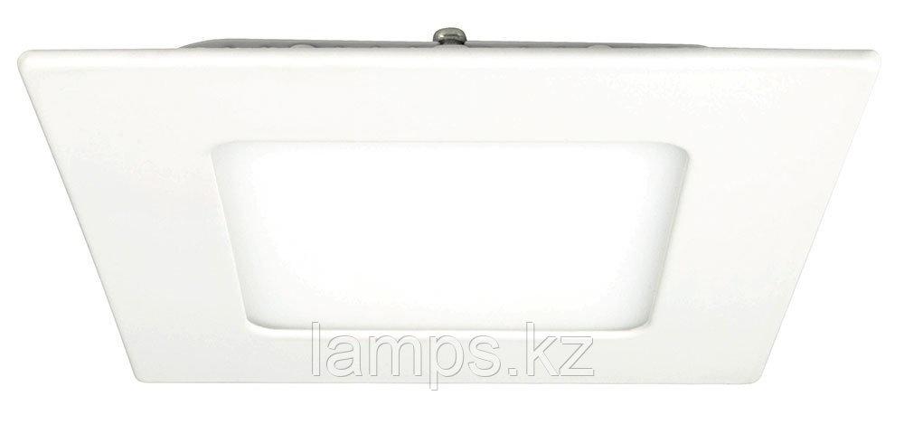 Панель светодиодная, квадратная, белая, встраиваемая, потолочная DL LED KVADRO PANEL 3W 3000K