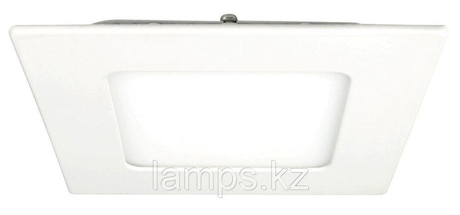 Панель светодиодная, квадратная, белая, встраиваемая, потолочная DL LED KVADRO PANEL 3W 3000K, фото 2