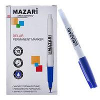 Маркер перманентный Mazari Belar, 1.5 мм, синий (комплект из 12 шт.)