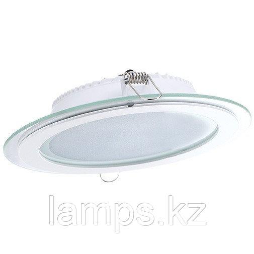Панель светодиодная, круглая, белая, встраиваемая, потолочная DL LED GLASS ROUND PANEL18W 3000K