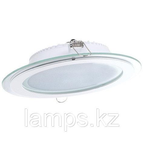 Панель светодиодная, круглая, белая, встраиваемая, потолочная DL LED GLASS ROUND PANEL18W 3000K, фото 2