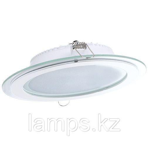 Панель светодиодная, круглая, белая, встраиваемая, потолочная DL LED GLASS ROUND PANEL18W4500K