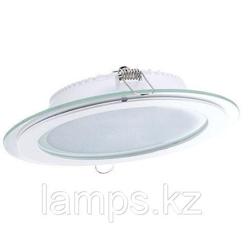 Панель светодиодная, круглая, белая, встраиваемая, потолочная DL LED GLASS ROUND PANEL18W4500K, фото 2
